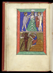 Baptism of Christ and First Temptation of Christ, in a Psalter